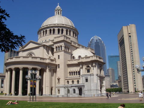 The First Church of Christ, Scientist, on Massachusetts Avenue in Boston (Photo: Business Wire)
