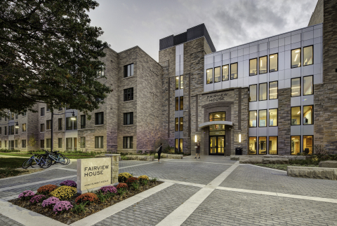 Fairview House, Butler University, received awards for Best Use of Green & Sustainable Construction or Development and Best Public/Private Partnership Development.(Photo: Business Wire)