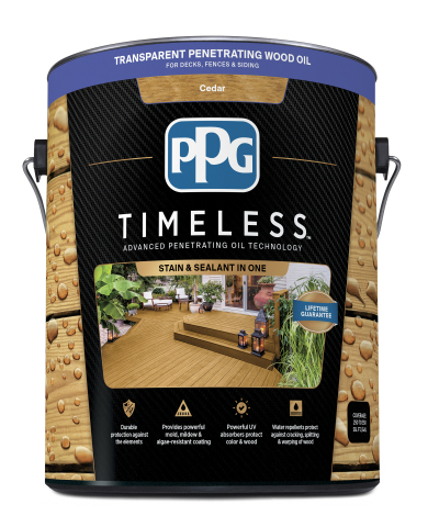 PPG launches PPG TIMELESS stain, now available exclusively at THE HOME DEPOT locations and at homede ...