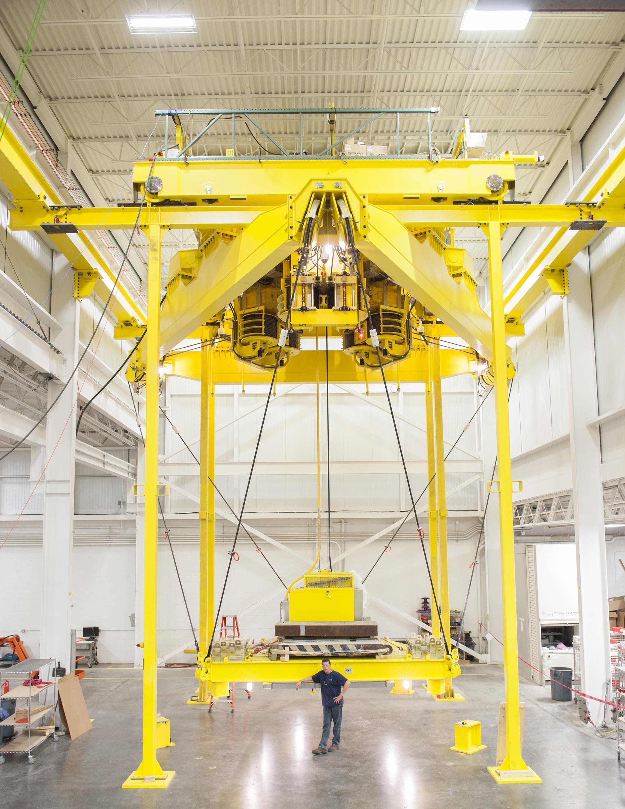 PaR Systems' TensileTruss™ before installation at Chernobyl. (Photo: PaR Systems, Inc.)