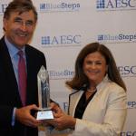 Peter Drummond-Hay, Russell Reynolds Associates, and Karen Greenbaum, AESC President & CEO. (Photo Credit: AESC)