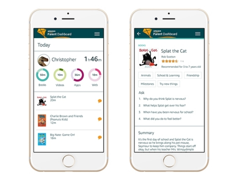 Introducing Discussion Cards and Parent Dashboard—new ways for families to discover, share, and connect through Amazon FreeTime (Photo: Business Wire)