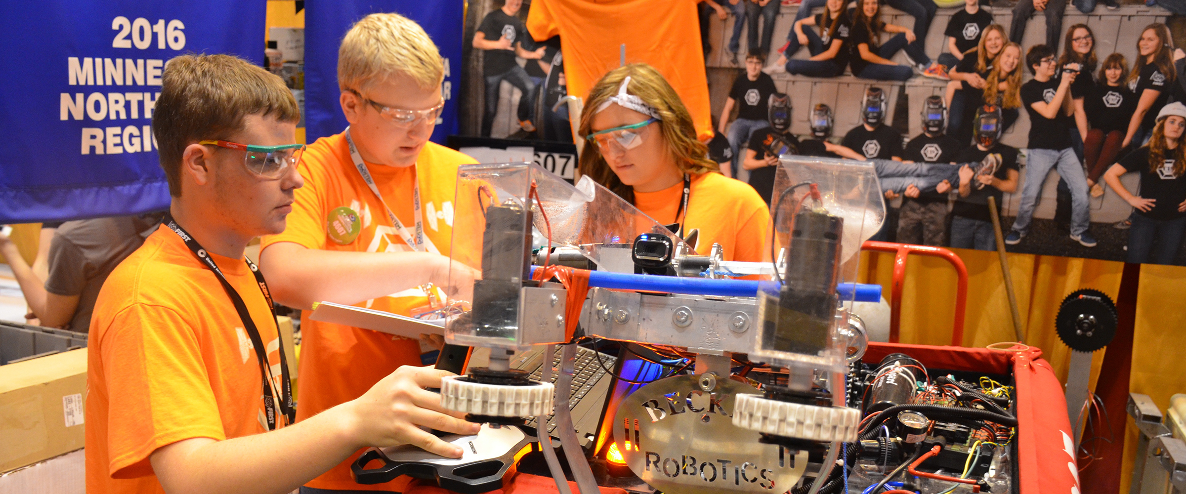 Mouser Electronics will be a major sponsor of the FIRST Championship, April 19-22 in Houston and April 26-29 in St. Louis. The annual robotics event, which fosters STEM education, attracts thousands of high school teams from across the globe. Mouser is sponsoring the Hall of Fame area, which honors past winners of the Chairman's Award. Photo from 2016 FIRST Championship. (Photo: Business Wire)