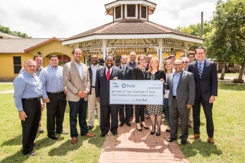 U.S. Representative Will Hurd today joined representatives from FHLB Dallas and Frost Bank for a tour of the Adult and Teen Challenge of Texas San Antonio campus and check presentation. The organization received a $500,000 Affordable Housing Program grant for building renovations. (Photo: Business Wire)