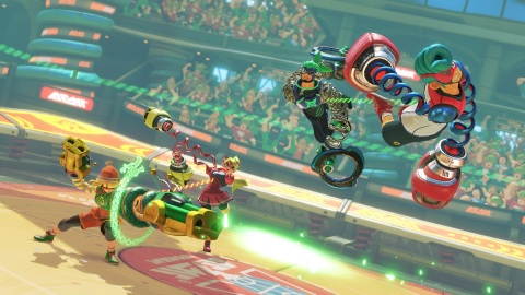 ARMS launches exclusively for Nintendo Switch on June 16. The fast-paced fighting game can be played in 1-v-1 matches or even 2-v-2 for more entertainingly chaotic battles. (Photo: Business Wire)