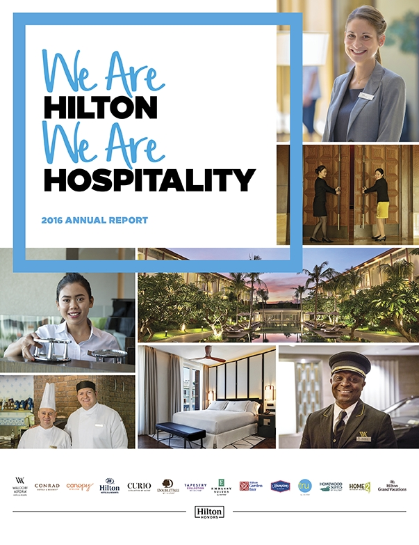 Hilton's 2016 Annual Report (Photo: Business Wire)