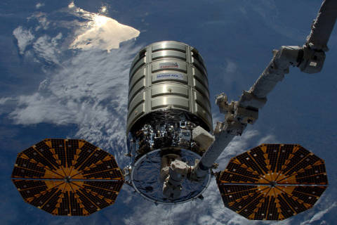 The Cygnus Cargo Craft completed first investigation of large-scale flame spread and material flammability in long duration microgravity. Photo Courtesy NASA