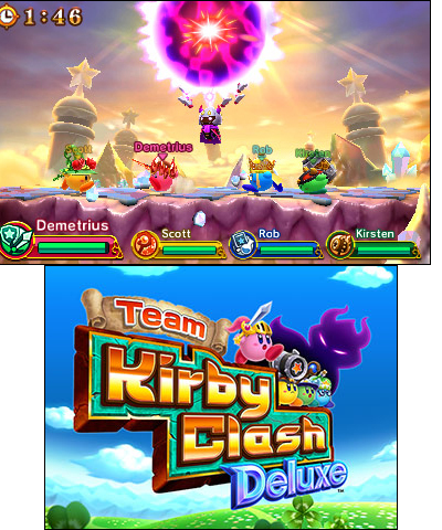 As part of the 25th anniversary celebration of the adorable Kirby franchise, this free-to-start game features four Kirby characters with different powers: Sword Hero, Hammer Lord, Beam Mage and Doctor Healmore. (Graphic: Business Wire)