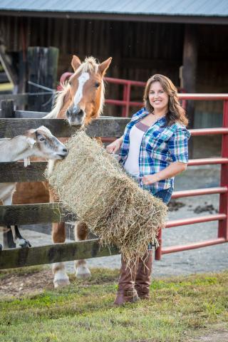 2016 #RootedinAg winner, Shelby Watson Hampton on her family farm in Brandywine, Maryland. Photography by Edwin Remsberg