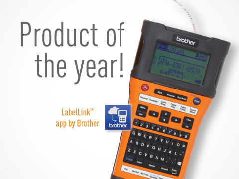 Brother Mobile Solutions honored with a 2017 'Product of the Year' award from Electrical Construction and Maintenance Magazine (EC&M) for its LabelLink™ Cable Labeling App. (Graphic: Business Wire)