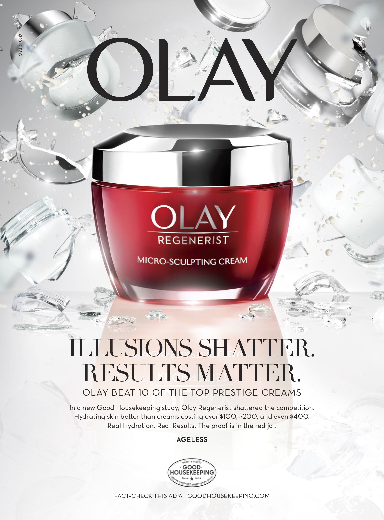 Good Housekeeping Institute Study Proves Olay Outperforms 10 Top