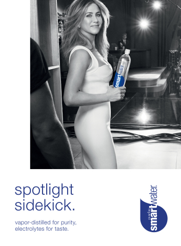 smartwater® releases new advertising campaign featuring longstanding brand ambassador Jennifer Aniston. (Photo: Business Wire)