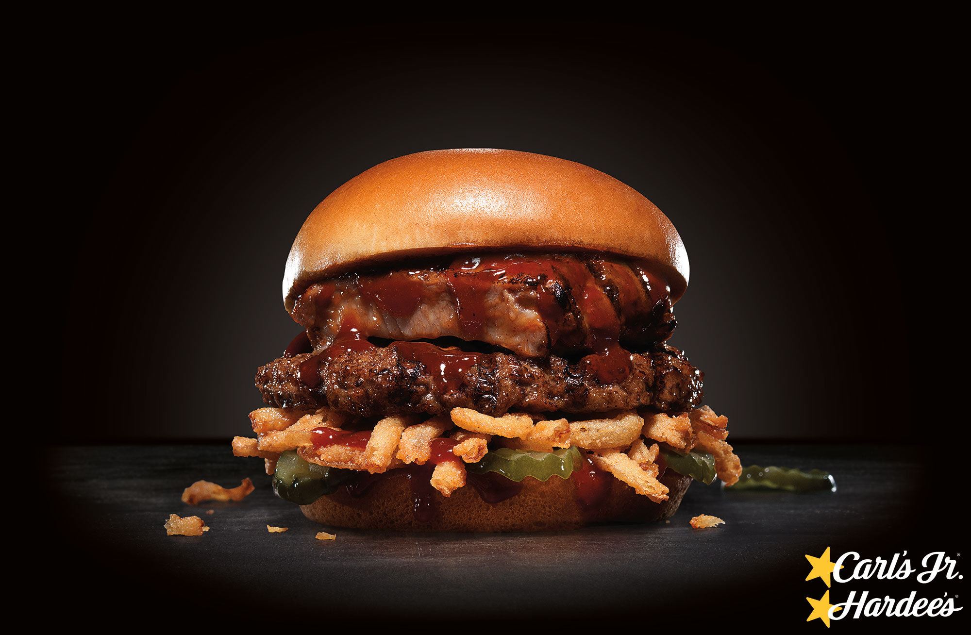 Baby Back Rib Burger, Carl's Jr. and Hardee's (Photo: Business Wire)