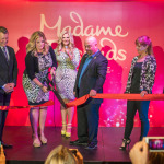 Trisha Yearwood and Madame Tussauds Nashville VIPs cut the ribbon to officially open the attraction at Opry Mills Mall in Nashville. (Photo: Business Wire)