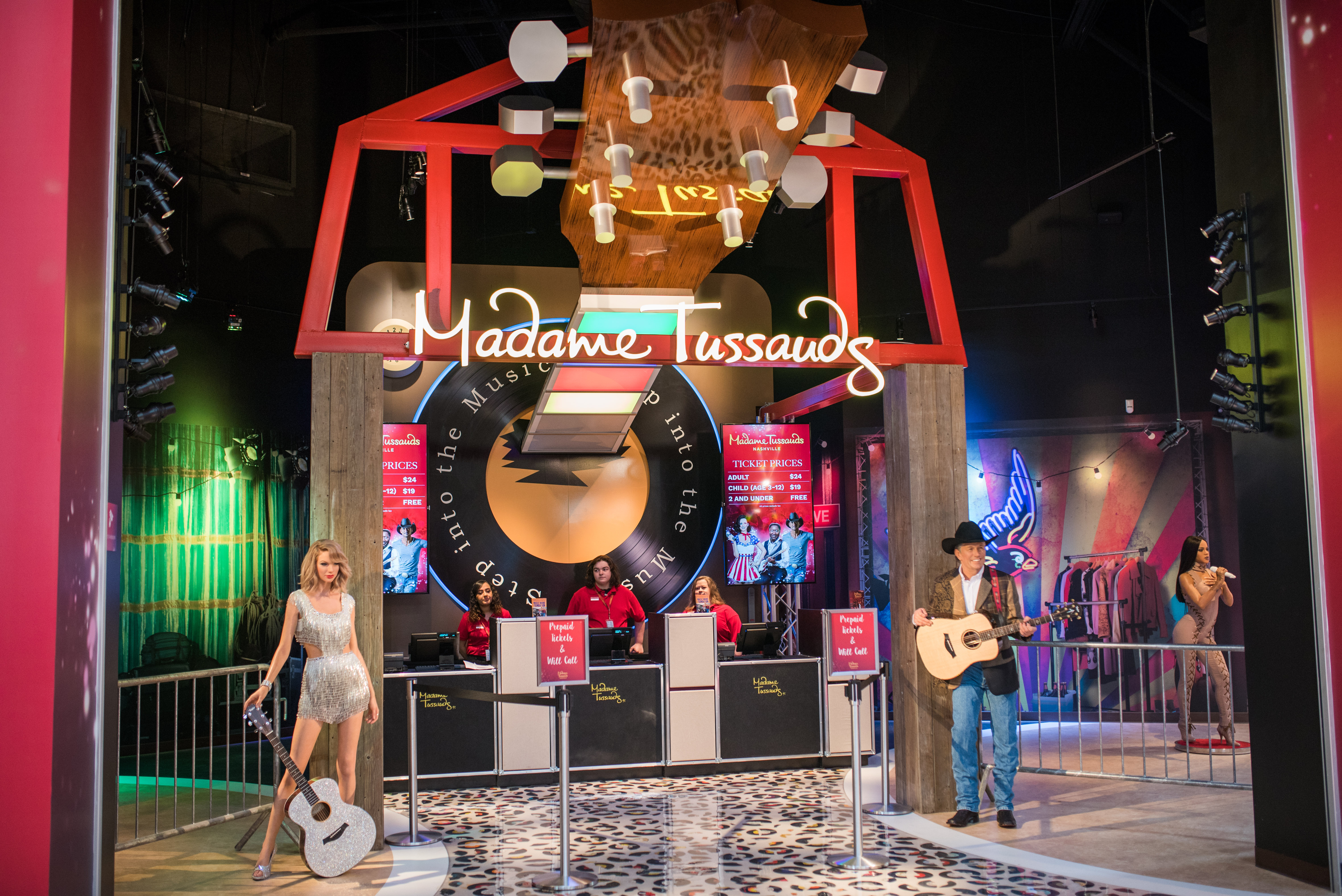 Madame Tussauds Nashville officially opened to the public today, Friday, April 14. (Photo: Business Wire)