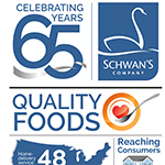 Schwan's celebrates six decades of innovation, growth and great food. (Graphic: Schwan's Company)