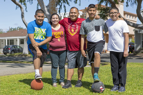 Los Angeles resident Sergio Ramirez (center, pictured here with his family) will meet his donor at City of Hope's Bone Marrow Transplant Reunion on Friday, April 28. (Photo: Business Wire)