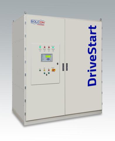 Solcon Industries同類首款採用IGBT的中壓緩衝啟動器DriveStart,額定電壓為6.6KV,額定電流高達750A(照片:美國商業資訊)