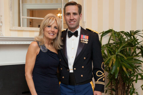 Former Second Lady Dr. Jill Biden with son Beau Photo Credit: White House photo by David Lienemann