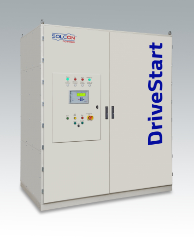 Solcon Industries' DriveStart, the first of its kind, IGBT based Medium Voltage Soft Starter with ra ...