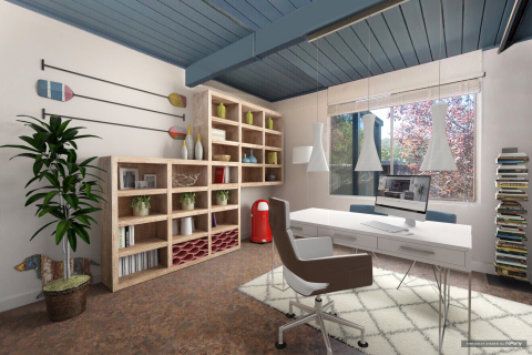 Home office without BuildDirect flooring. (Photo: roOomy)