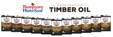Thompson's WaterSeal Expands Penetrating Timber Oil Line. (Photo: Business Wire)