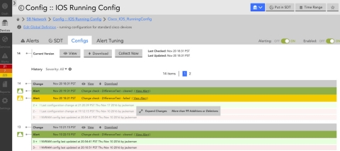 LM Config lets users easily track and alert on config changes alongside their performance data. (Photo: Business Wire)