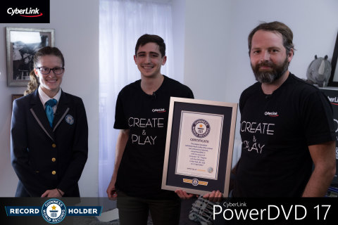 Team CyberLink Achieves Historic Feat with PowerDVD 17 (Photo: Business Wire)
