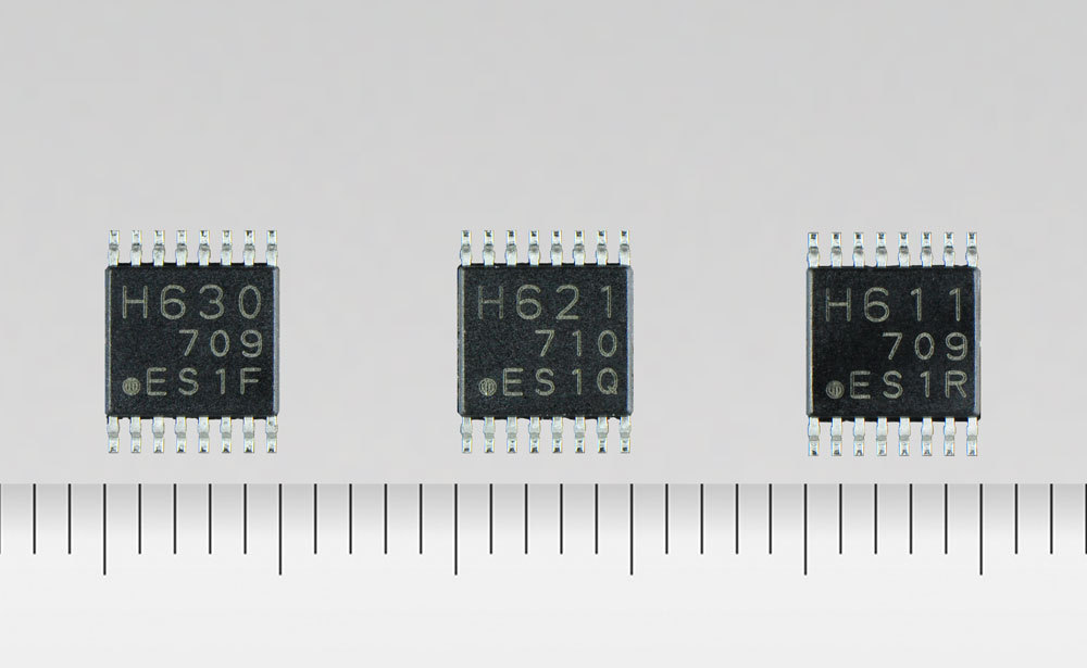 """Toshiba: """"TC78H630FNG,"""" """"TC78H621FNG,"""" and """"TC78H611FNG,"""" additions to its line-up of H bridge driver ICs for DC brushed motors and stepping motors. (Photo: Business Wire)"""