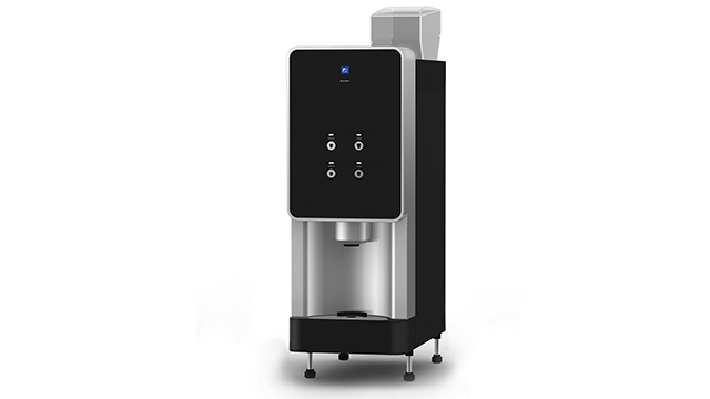 Fuji Electric's newly introduced BeanBrew, a commercial-grade single-serve bean-to-cup coffee machine ideal for offices, hotels, restaurants, and convenience stores.