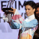 Prince accepting BET Lifetime Achievement Award (Photo: Business Wire)