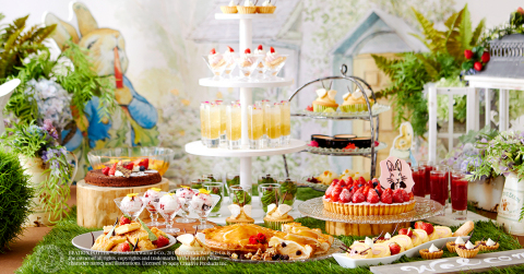 Keio Plaza Hotel Tokyo hosts a special Peter Rabbit(TM) Hotel Carnival dessert buffet in commemoration of 150th anniversary of Beatrix Potter(TM)'s birth. BEATRIX POTTER(TM)(C) FrederickWarne & Co., 2017