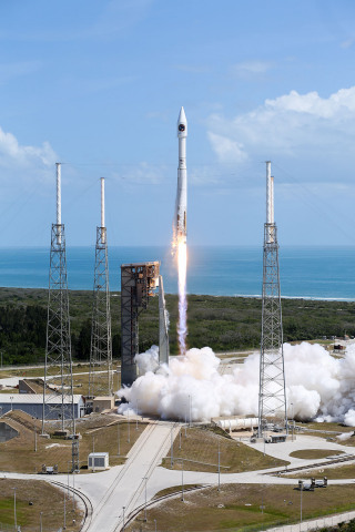 "Orbital ATK's ""S.S. John Glenn"" Cygnus spacecraft successfully launches aboard a United Launch Alliance (ULA) Atlas V rocket, bound for the International Space Station with over 7,600 pounds of science research and crew supplies. Photo Credit: United Launch Alliance"