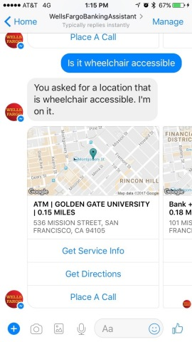 Wells Fargo is piloting an artificial intelligence (AI)-driven customer chat experience for Facebook Messenger, which will help answer common questions. (Photo: Business Wire)