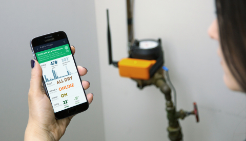 Alert Labs offers easy to install technology that provides real-time water use, flood, leak, temperature, and power alerts to protect homes and businesses against water damage, and to provide water saving opportunities. (Photo: Business Wire)