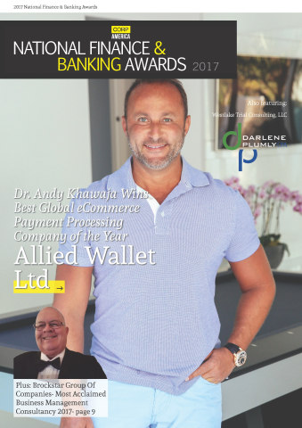 Dr. Andy Khawaja of Allied Wallet Wins E-Commerce Award 2017. (Photo: Business Wire)