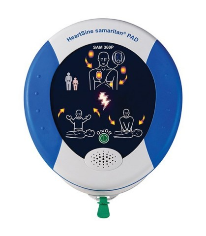 The HeartSine® samaritan® PAD 360P fully automated external defibrillator (AED) from Physio-Control is now available for sale in the United States, having received U.S. Food and Drug Administration (FDA) Premarket Approval. The SAM 360P will complement the SAM 350P and SAM 450P, which are currently offered in the United States, by providing users with a choice of a fully-automatic device, a semi-automatic device, and a device with integrated real-time CPR rate feedback. (Photo: Business Wire)