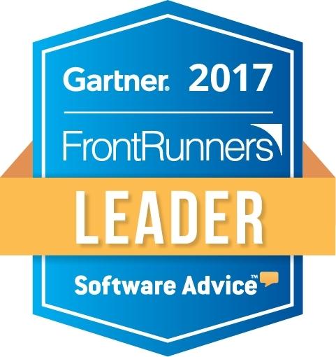 Gartner FrontRunners Leader Badge