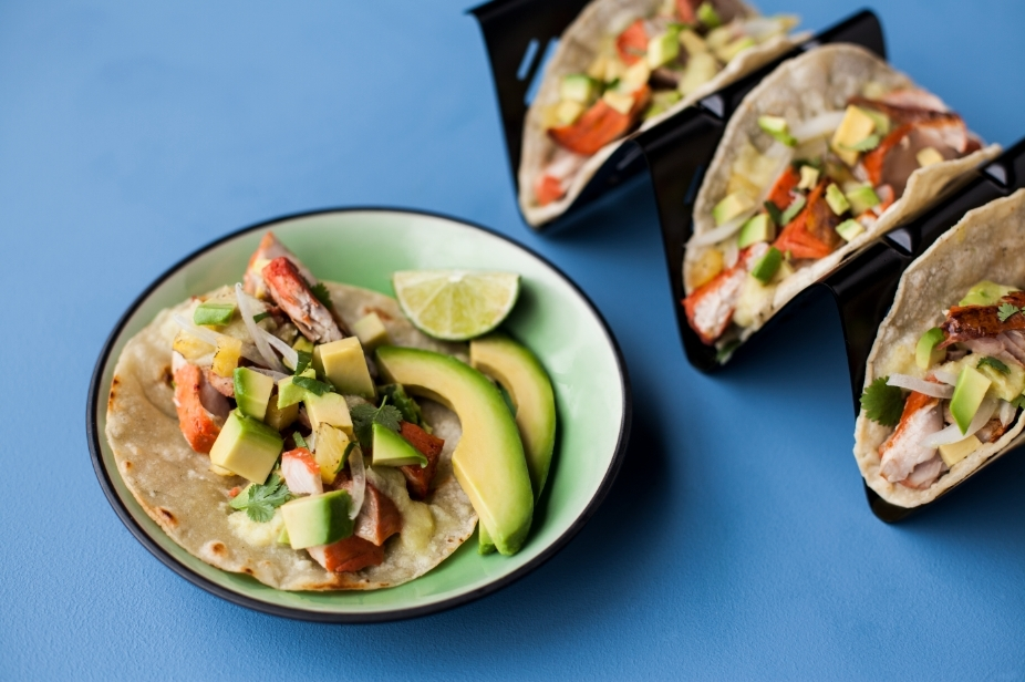 Grilled Al Pastor Yellowtail Taco with Pineapple-Jalapeño Salsa & Lime Marinated California Avocados by Chef Christine Rivera of Galaxy Tacos (Photo: Business Wire)