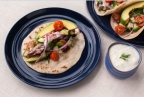Grilled Tuna Taco with California Avocado Tzatziki by Chef Jonathan Bautista of George's At The Cove (Photo: Business Wire)