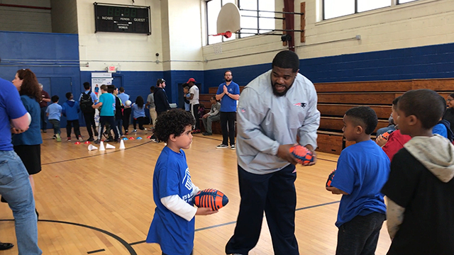 "UnitedHealthcare donated 650 NERF ENERGY Game Kits to the Boys & Girls Clubs of Pawtucket and Providence as part of a national initiative to encourage young people to become more active through ""exergaming."" Stephen Farrell, CEO, UnitedHealthcare of New England, was joined by John Frascotti, president, Hasbro, as Jerod Mayo, former New England Patriots linebacker and Patrick Pass, former New England Patriots fullback led club members through exercises and drills to showcase the activity tracker and mobile game. Throughout 2017, UnitedHealthcare will deliver a total of 10,000 NERF ENERGY Game Kits to elementary schools and community organizations across the country, enabling children ages six to 12 to receive the kits at no cost (Video: Anita Sen)."