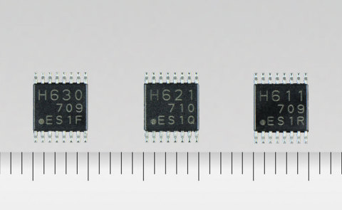 "Toshiba: ""TC78H630FNG,"" ""TC78H621FNG,"" and ""TC78H611FNG,"" additions to its line-up of H bridge driver ICs for DC brushed motors and stepping motors. (Photo: Business Wire)"