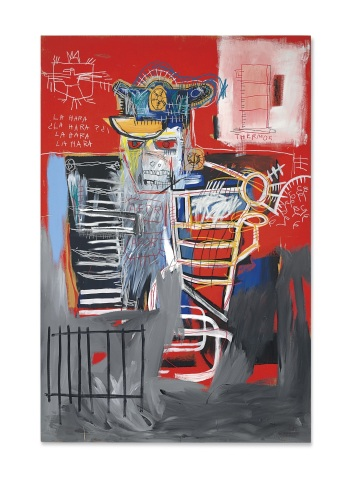 Jean-Michel Basquiat, La Hara, acrylic and oilstick on wood panel, 1981. Estimate: $22,000,000-28,000,000 (Photo: Business Wire)