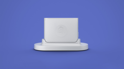 Shopify's Chip and Swipe card reader with base (Photo: Business Wire)