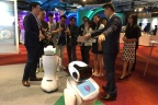Sanbot interacts with attendees at IBM Forum 2017. (Photo: Business Wire)