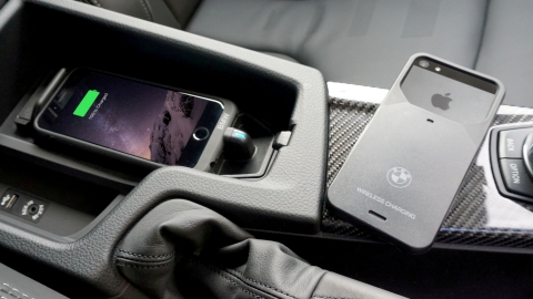 The Aircharge wireless charging case enables BMW owners to charge their iPhone wirelessly' (Photo: B ...