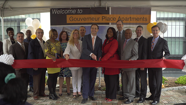 Community leaders, affordable-housing advocates and key investment partners celebrate the opening of Gouverneur Place Apartments, a new 68-unit affordable-housing development in the Bronx that integrates high-quality affordable housing with supportive services for residents. UnitedHealthcare invested $7.8 million to help build the new community as part of an initiative to help people live healthier lives by connecting housing and health (Video: Max Hull).