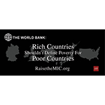 "As part of its campaign to have the World Bank overhaul its country income classification system, AHF launched a new 'Raise the MIC' ad in the DC area headlined, ""Rich countries should not define poverty for poor countries,"" as part of its effort to have the World Bank fix its country classification system. (Graphic: Business Wire)"