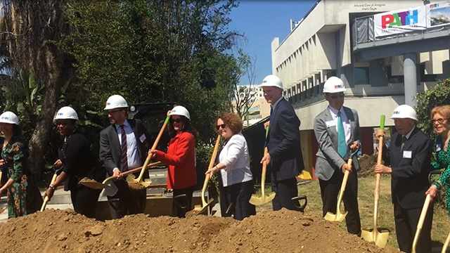Community leaders, affordable-housing advocates and key investment partners participated in the groundbreaking ceremony for PATH Metro Villas in Los Angeles, Calif., a new 65-unit supportive-housing community that will provide permanent homes to individuals and families who have been suffering from homelessness or struggling to find affordable housing (Video: Espe Greenwood).