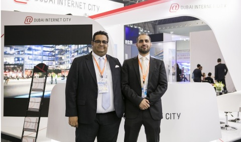 Ammar Al Malik, Executive Director, and Faisal Hammoud, Director of Business Development, from Dubai Internet City at the China Shanghai International Technology Fair, representing Dubai and discussing business and collaboration opportunities with the technology community of China. (Photo: ME NewsWire)
